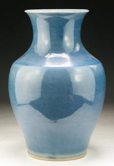 A Chinese Antique Blue Glazed Porcelain Vase Size: H: 11-3/4""