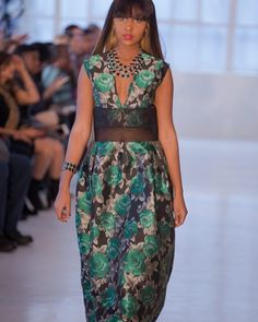 Emerald Geisha Dress by TROS  Small Boutique Fashion Week -  New York Fashion Week  #dresses