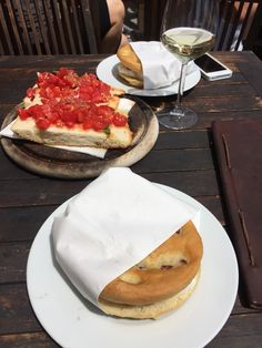Focaccia and bruschetta