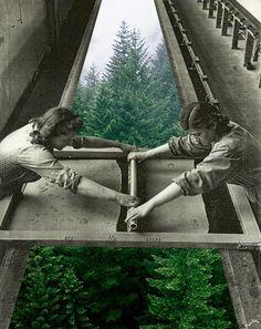 <3  we love green :)    collage artwork by Merve Ozaslan