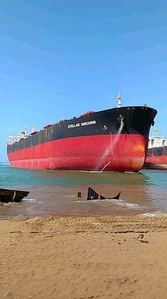 Mike Schuler - A look at Stellar Unicorn at the Gadani shipbreaking yard in Pakistan. She is sister vessel to Stellar Daisy which sunk in the Atlantic. Richmond California, Tanker Ship, Ship Breaking, Freight Forwarder, Oil Tanker, Oil Refinery, Abandoned Ships, Ballons, Rabbi