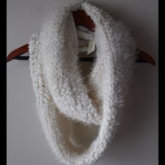 """Fuzzy Sonoma scarf Super soft fuzzy off white infinity scarf - sequin embellishments - new with tags! - 8"""" wide x 36"""" long - nylon/acrylic/polyester Sonoma Accessories Scarves & Wraps"""