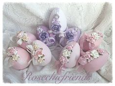 """Sweet chic and shabby 4"""" paper mâché roses found @Rosechicfriends on etsy"""