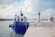 Fishing boat or trawler, at the harbor, in Fiumicino, Rome,... #fiumicino: Fishing boat or trawler, at the harbor, in… #fiumicino