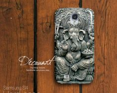 Ganesha Samsung galaxy S3 case, Samsung galaxy S4 case, Samsung galaxy S5 case, Samsung Note 2 case, black grey S188, christmas gift