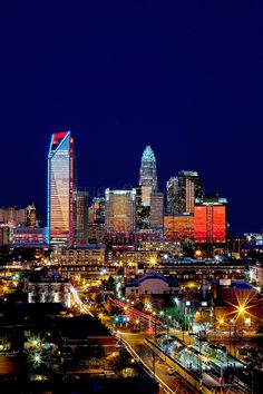 Charlotte, NC | Charlotte NC skyline as seen from Charlotte's south side |