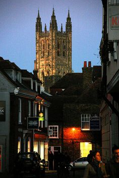 Canterbury Cathedral from Castle Street, Kent, England
