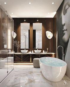 30 Glamorous Bathroom Design Ideas You Never Seen Before – Homely Bathroom Lighting Design, Bathroom Design Luxury, Luxury Bathrooms, Modern Luxury Bathroom, Luxury Hotel Bathroom, Hotel Bathrooms, Minimalist Bathroom, Dream Bathrooms, Glamorous Bathroom