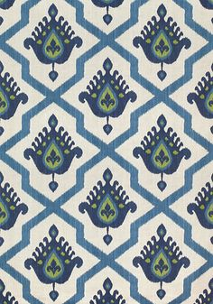 Myanmar Ikat in navy from the Thibaut Enchantment collection