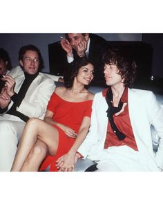 """thegoldenyearz: """" Designer Halston, Bianca Jagger and Mick Jagger by Richard Corkery at Studio 1977 """" Bianca Jagger, Mick Jagger, Vartan Sylvie, Moves Like Jagger, Intimate Photos, Rolling Stones, Manhattan, Style Icons, Ikon"""