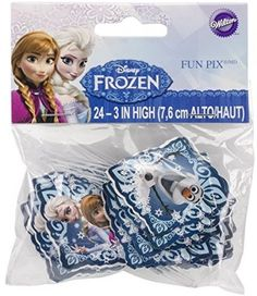 24 Pcs Disney Frozen Pix Cupcake Decor Colorful Fun Picks Party Supplies Kids Gi…