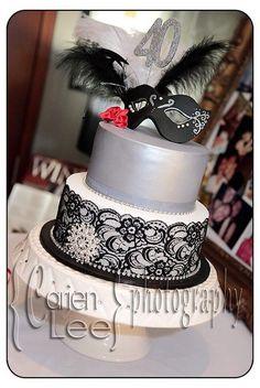 birthday favors masqurade | Carley's Cake Couture: 2 Tier Masquerade Cake