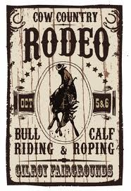 TEXAS~GILROY,TX Old Rodeo Poster
