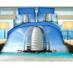 Pościel 3D PREMIUM 160 x 200 cm. Hotel W Dubaju-237-04