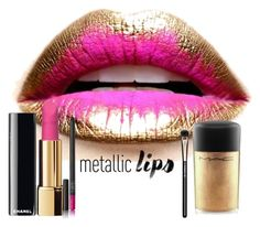"""Metalliclips"" by marionmeyer ❤ liked on Polyvore featuring beauty, MAC Cosmetics, NARS Cosmetics and metalliclips"