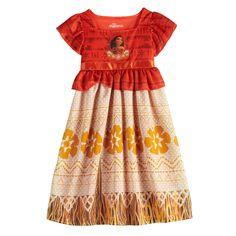 She'll feel like Moana herself wearing this girls' Disney's fantasy gown nightgown. Moana Birthday Outfit, Birthday Dresses, Moana Outfits, Disney Outfits, Toddler Girl Outfits, Toddler Dress, Wedding Gown A Line, Charlotte, Disney Frozen Elsa