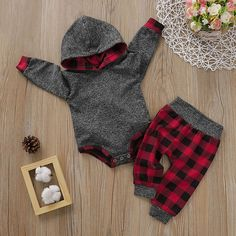 Check out this great stuff I just found at PatPat! Check out this great stuff I just found at PatPat! Baby Boy Trendy Solid Long-sleeve Hooded Bodysuit and Plaid Pants Set<br> An extra OFF is available for new users now So Cute Baby, Baby Kind, Cute Baby Clothes, Cute Babies, Baby Fashion Clothes, Baby Boy Winter Clothes, Cute Baby Stuff, Babies Fashion, Babies Clothes