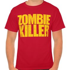 Zombie Killer tee (yellow design)