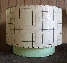 Retro Vintage style 2 TIER fiberglass lamp shade MID CENTURY modern atomic TIKI