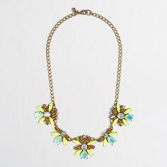 J.Crew Factory - Factory neon floral burst necklace