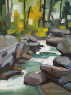 "Daily Paintworks - ""Yosemite Creek"" - Original Fine Art for Sale - © Michael Chamberlain"