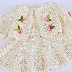 Crochet dress for American Girl doll