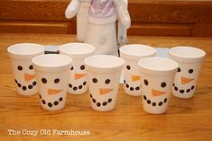 "The Cozy Old ""Farmhouse"": Winter Decor & a Snowman Party"