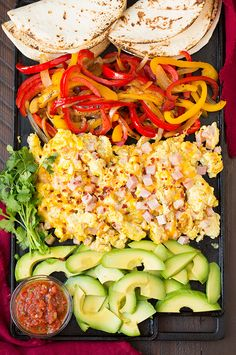 Breakfast Fajitas! These are fun to assemble and they look so fresh and light, a great start to the day :) Remember to follow SimpleGreenMoms for more healthy and easy recipe ideas! #foodiebreakfast #foodie #fajita