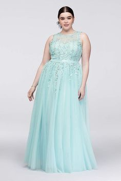 9be353ebed8 Find plus size prom dresses at David s Bridal! Our collection includes plus  size prom dresses