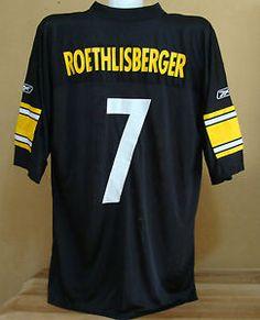 a588b2ebb Ben Roethlisberger 7 Pittsburgh Steelers NFL football jersey XL Reebok shirt