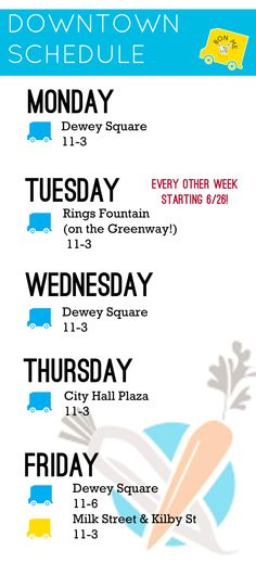 new downtown schedule!