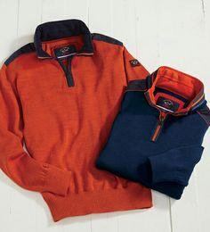 8419cae32c6c5 Paul   Shark Quarter-Zip Sweater