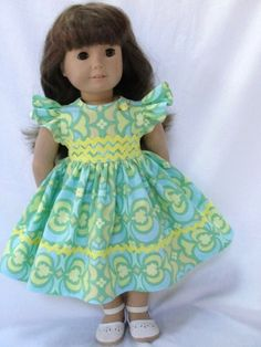 American Girl Doll Dress www.facebook.com/dollclothesbyjanefulton?ref=hl
