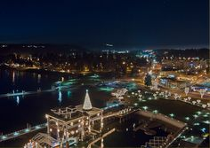 A view of the Christmas lights from the Coeur d'Alene Resort