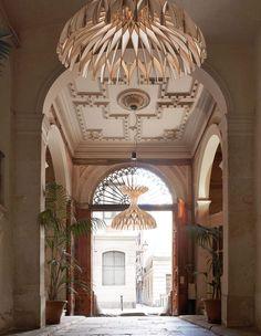 Pendant lamp / contemporary / wood veneer / beech - DOME by Benedetta Tagliabue - BOVER Barcelona