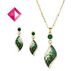 Aliexpress.com : Buy Free shipping,Neoglory Jewelry fashion jewelry sets green necklace & earrings 14k gold plated leaf pendant Christmas tree from Reliable jewelry sets suppliers on NEOGLORY JEWELRY