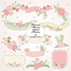 Check out Wedding banner frames by burlapandlace on Creative Market