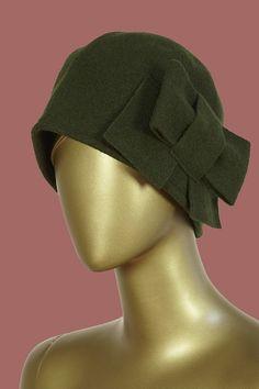 38b7cce31cc3b Chapeau en laine avec noeud sur le côté. Taille unique   M