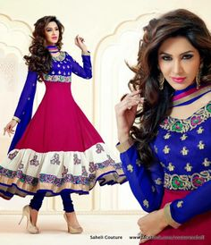 Rose Petals Saheli Couture Indian Frocks Suits Dresses 2014   (6)