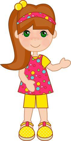 SCRAP NIÑAS - Carmen Ortega - Picasa Web Albums Girly Drawings, Cartoon Drawings, Child Doll, Girl Dolls, Brown Hair Cartoon, Ugly Dolls, Girl Clipart, Dibujos Cute, Doll Sewing Patterns