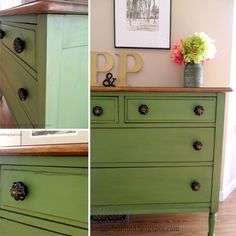 Green Farmhouse Dresser Traditional Bedroom St Louis Pertaining To Green Bedroom Furniture Ideas