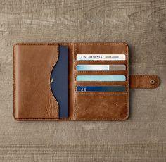 Italian Leather Passport Cover - Chestnut