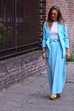 #fashion #fashionista Luci azzurro bianco
