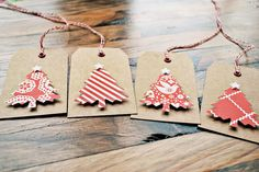 christmas gift tags kraft christmas tags by oscarandollie on Etsy. , via Etsy.