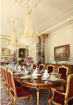Grand Dining Room Decor Elegant Luxury French Rooms