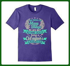 Mens Being A Civil Engineer Daughter T-shirt Medium Purple - Careers professions shirts (*Amazon Partner-Link)