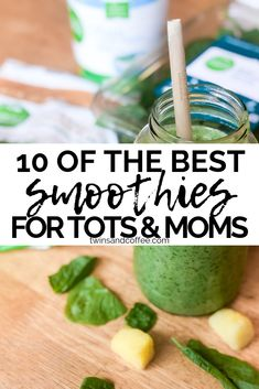 List of 10 Nutrient Dense Smoothies for Toddlers and Moms. veggie packed smoothies for toddlers and moms geared towards picky eaters. Healthy smoothie recipes that help with gut health, and are simple enough to make quickly for your kids. Featuring veggie smoothies with spinach, carrots and peas.