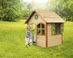 Kinder-Spielhaus Holz Axi JULIA Kinder-Holzhaus AXI Spielhaus Julia Stellen Sie mal vor, dass Sie für jedes Ihrer Kinder so ein Haus in den Garten stellen. Das ist fast besser als ein Schlumpfdorf im Wald zu finden.