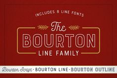 Bourton Line Family by Kimmy Design on @Graphicsauthor