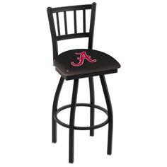"Holland Bar Stool NCAA 44"" Swivel Bar Stool NCAA Team: Alabama Crimson Tide"